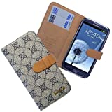 Xtra-Funky Exclusive Diamond Checkered Pattern Style Flip Purse Wallet Case Cover With Credit Card Slots For Samsung Galaxy Note 2 N7100 - GREY