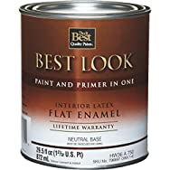 Best Look Interior Flat Paint And Primer In One Wall Enamel-INT FLAT NEUTRL BS P