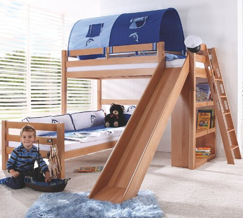 Etagenbett Set »4 DREAMS« in Buche massiv natur lackiert