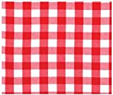 "100% Cotton Red Picnic Check 60""x60"" Tablecloth - Picnic Red"