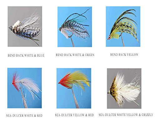 Redfish / Seatrout Fly Assortment - Collection of 6 Holly Flies