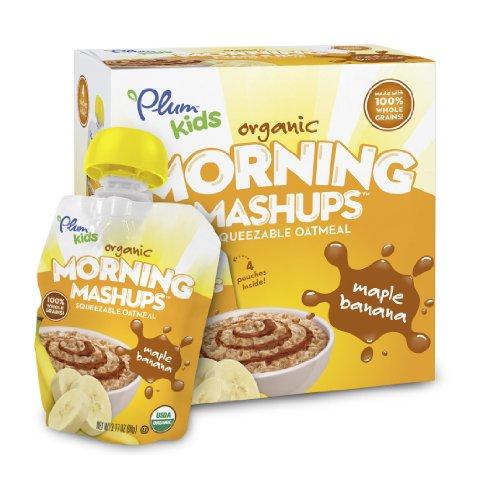Plum Kids Organic Morning Mashups Maple Banana 4 Count Pack of 6