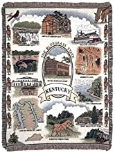 State of Kentucky Vertical Mid-Size Deluxe Tapestry Throw Blanket USA Made