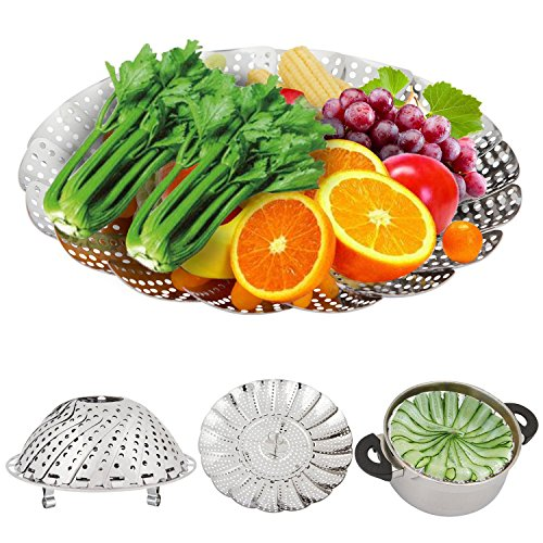 Vegetable Steamer, KinHom Stainless Steel 5.3