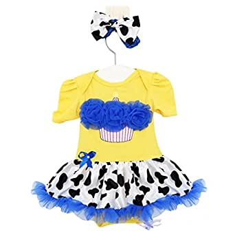 Baby Girl's Birthday Cake Infant Baby Girl Clothes Dress B04: Clothing