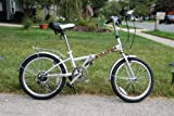 "Columba 20"" Steel Folding Bike w. Shimano 7 Speed Silver (LW20S_SLV)"