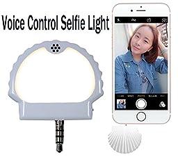 Phone Light YEYIZU® Voice Control Selfie Light Voice Control Selfie Flash Light Photos And Video Enhancing Photographs (White)