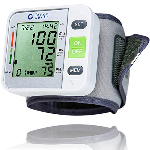 Clinical Automatic Blood Pressure Monitor FDA Approved by Generation Guard with Large Screen Display Portable Case Irregular Heartbeat BP and Adjustable Wrist Cuff Perfect for Health Monitoring (Blood Pressure Testing Machine compare prices)