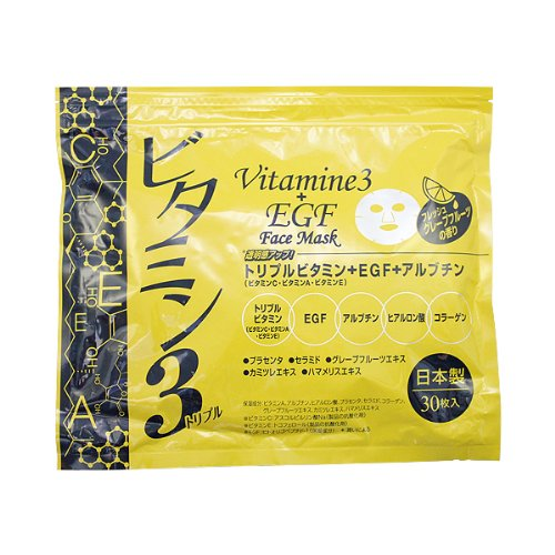 ビタミン3フェイスマスク 30P