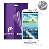 Fosmon Crystal Clear Screen Protector Shield for the Samsung Galaxy S3 III i9300 - 3 Pack (Fosmon Retail Packaging)