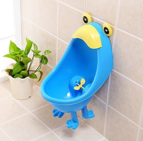 Kawaiii Frog Baby Potty Urinals Boy Cute Children Potty Toilet Training Kids Urinal Plastic Animals Standing Potties With Foot (blue) (Paw Patrol Potty Chart compare prices)