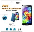 JOTO Screen Protector Film for Samsung Galaxy S5, Anti Glare, Anti Fingerprint (Matte Finish) with Lifetime Replacement Warranty, ATT, Verizon, Sprint, T-Mobile, International and Unlocked i9600 / Galaxy SV / Galaxy S V (2014) (3 Pack)