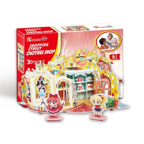 Shopping Street - Clothes Shop 3D Puzzle front-852685