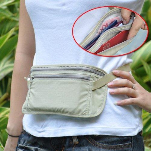 Cool Travel Pouch Hidden Compact Security Money Passport Id Belt Bag Holder front-581723