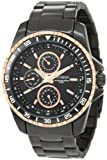 Armitron Mens 20/4739TRTI Black-Ion Plated and Rosegold-Tone Multi-Function Stainless-Steel Bracelet Watch