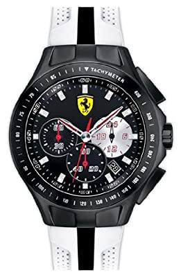 Ferrari 0830026 scuderia chronograph black dial textures of racing men watch NEW
