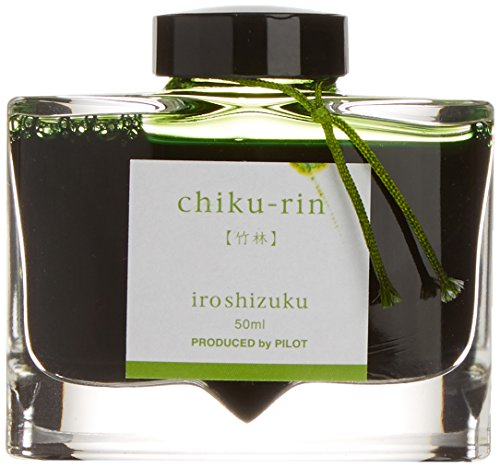 pilot-iroshizuku-fountain-pen-ink-50-ml-bottle-chiku-rin-bamboo-forest-yellow-green-japan-import