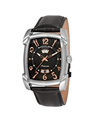 Stuhrling Original Men's 98XL.33151 The Madison Automatic AM/PM Indicator Black Dial Watch