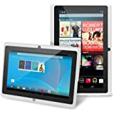 "Chromo Inc® 7"" Tablet Google Android 4.4 with Touchscreen, Camera, 1024x600 Resolution, Netflix, Skype, 3D Game Supported - White"