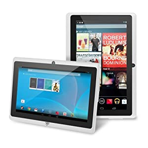 """Chromo Inc® 7"""" Tablet Google Android 4.1 with Touchscreen, Camera, 1024x600 Resolution, Netflix, Skype, 3D Game Supported - White [New Model June 2014]"""