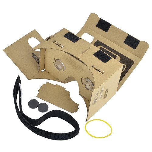 Theo&Cleo Brown Cardboard 3D VR Virtual Reality Glasses with Headband