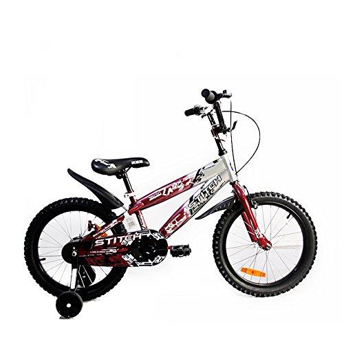 Cyfie カモシカさん 子供用自転車 泥除け付き 補助輪付き 滑り止めハンドル付き 簡単に安装 幅が広いタイヤ 安全 丈夫 18インチ 適応目安:115~150㎝ (レッド)
