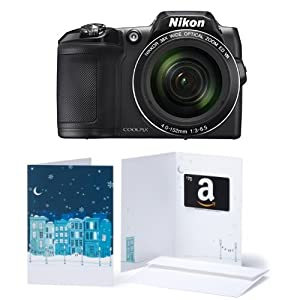 Nikon COOLPIX L840 Digital Camera (Black) and $70 Amazon.com Gift Card Bundle