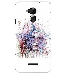 PrintDhaba GIRL FACE D-6870 Back Case Cover for COOLPAD NOTE 3 LITE (Multi-Coloured)