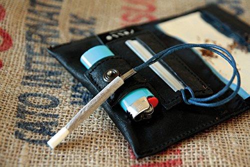 Porta tabacco in pelle made in Italy, porta sigarette, astuccio in pelle, pochette in vera pelle, cuio - lighter pocket blague à tabac tabaktasche