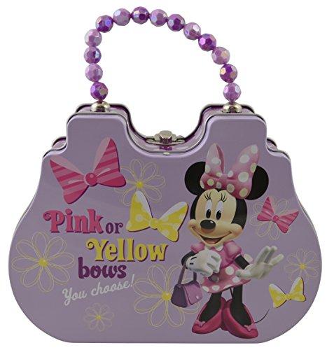 Disney Minnie Satchel Shaped Tin Box With Beaded Handle (Pink) (Daisy Duck Girls Costume)