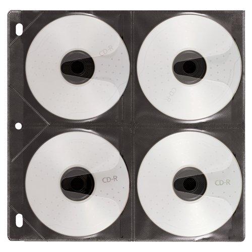 Vaultz IDEVZ01415CT CD Insert Pages 50 Sleeves Per Pack 8