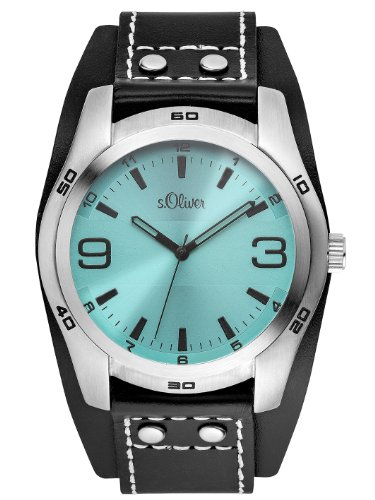 s.Oliver Herren-Armbanduhr XL Analog Quarz Leder SO-2882-LQ