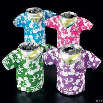 Hawaiian Flower Print Foam Beer Bottle Coolers (1 Dz) Koozie Insulators front-951207
