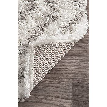 Cozy Soft and Plush Moroccan Trellis/Grey Shag Area Rug