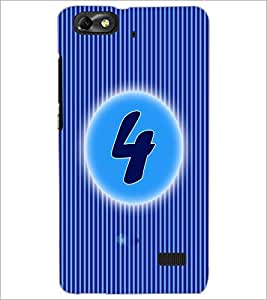 PrintDhaba Numerology Number 4 D-2559 Back Case Cover for HUAWEI HONOR 4C (Multi-Coloured)