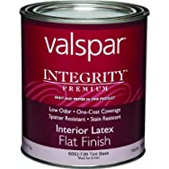 Valspar 004.6001739.005 Integrity Latex Flat Interior Wall Paint And Primer in One Paint