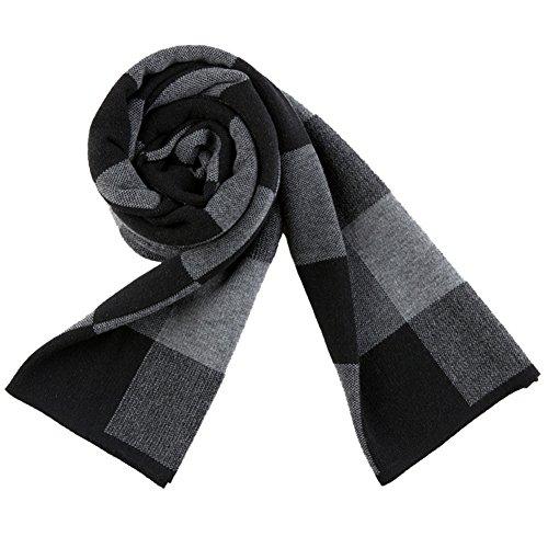 Juan-Mens-Wool-Fashion-Scarf-One-Size-Plaid