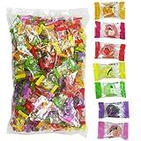 【ハロウィンお菓子】フルーツキャンディー・約260個(1kg)  / お楽しみグッズ(紙風船)付きセット [おもちゃ&ホビー]