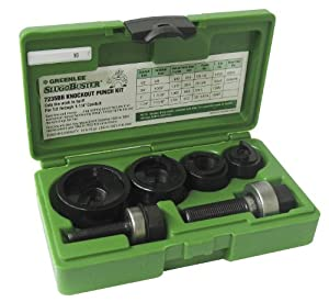 Greenlee 735BB Knockout Punch Kit, 1/2-Inch to 1-1/4-Inch Conduit Size