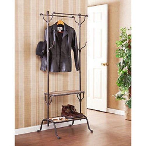 Ashbury Entryway Shelf / Hall Rack, Coat Stand, Shelves, Hat Tree, Furniture, Mudroom Storage, Shoe Rack front-83533