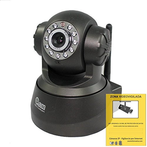 LKM Security IPCIN01 IP Netzwerkkamera Kamera IP (640 x 480 Pixel, WiFi, 300 MBit/S, IR-LED, bis 8m Nachtmodus) für Mac/Win/Linux/Android/Apple iPhone schwarz
