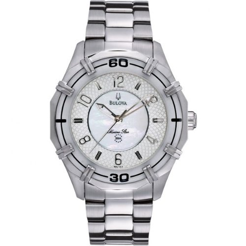 Bulova 96L147 Ladies Dress White Steel Watch