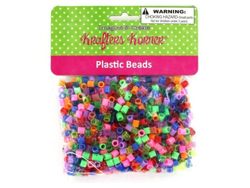 New - Huge assortment of plastic beads - Case of 144 by bulk buys