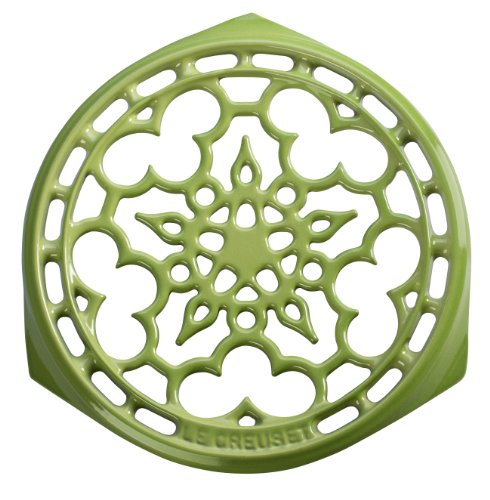 Le Creuset Enameled Cast-Iron Deluxe Round Trivet, 9-Inch, Palm