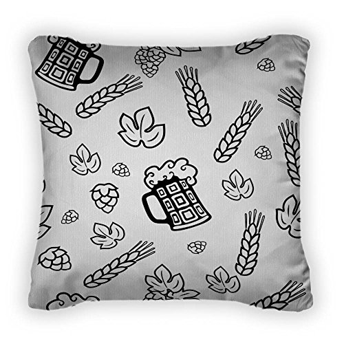 Gear New Beer - Throw Pillow With Removable Cover, Poplin, 14x14, GN27626