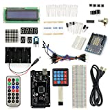 SainSmart Mega2560 R3 ATmega2560-16AU + Keypad Starter Kit with over 16 Basic Arduino Tutorial Projects for Arduino Beginners