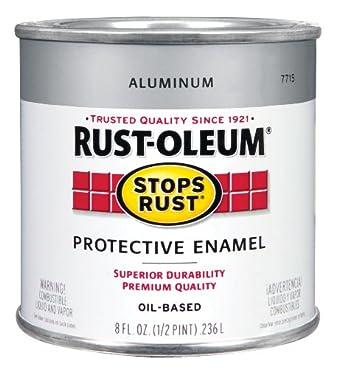 Rust-Oleum Stops Rust Protective Enamel Oil Base Exterior, Interior Aluminum 1/2 Pt