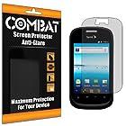 COMBAT(TM) ZTE Fury N850 Premium Anti-Glare & Anti-Fingerprint (Matte) Screen Protector Shield with Lifetime Replacement Warranty [6-Pack] - Retail Packaging