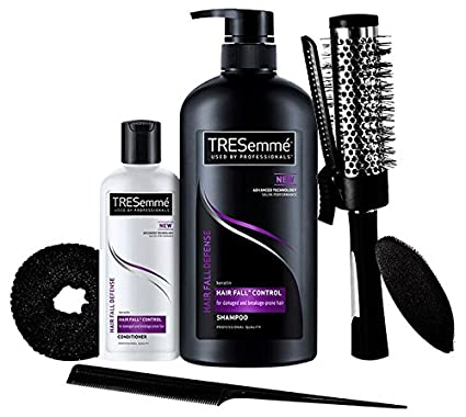 TRESemme Free Hair Styling Kit Worth Rs.500 with Hair Fall Defense Shampoo, 580ml and Conditioner, 85ml @ Rs.381