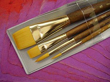 Golden Taklon Paint Brushes Vs White Taklon